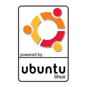Powered by Ubuntu stickers