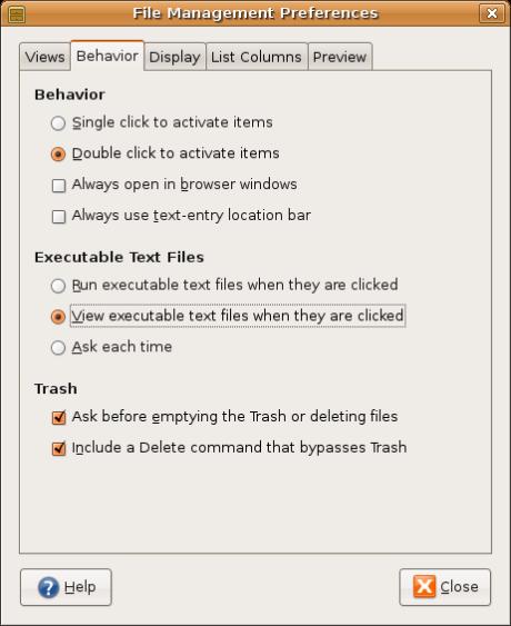 Enable delete in Nautilus