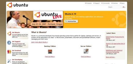 Ubuntu's new website