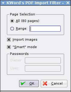 Kword - import pdf
