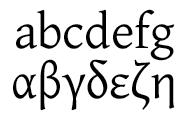 Sample of Gentium Font