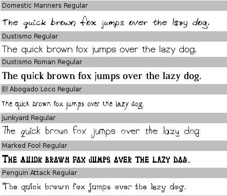 ttf-dustin font samples 1