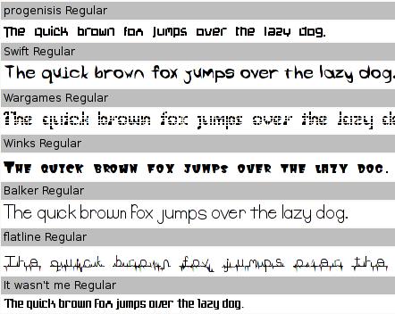 ttf-dustin font samples 2