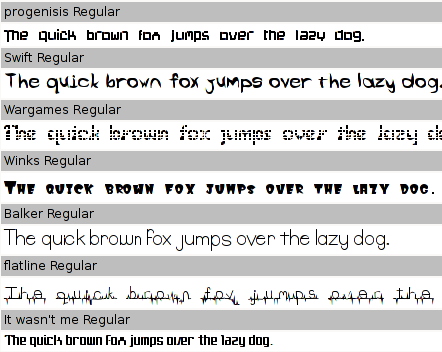 ttf-dustin font samples 2